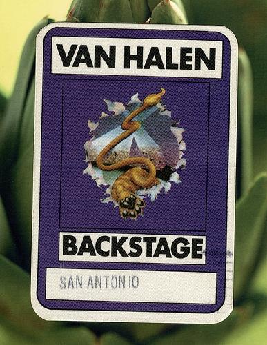 The Mighty Van Halen Backstage Pass