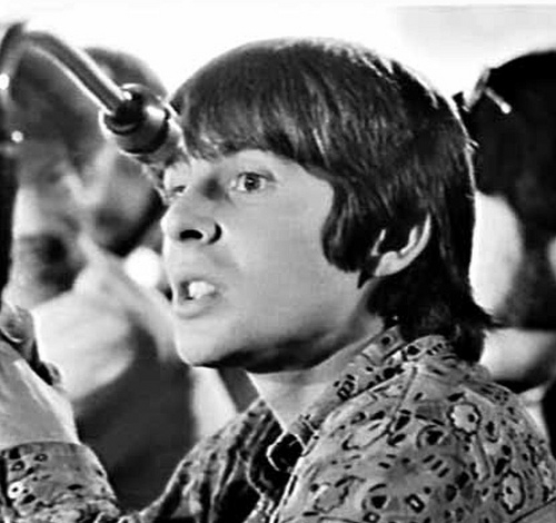 Davy Jones of the Monkees at a press conference in Sydney, 1968 / photographed by Greg Lee for Australian Photographic Agency