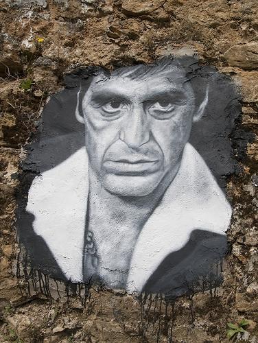 Al Pacino, painted portrait _DDC2341